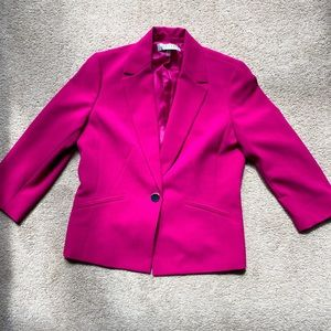 The bright pink blazer your closet is missing!